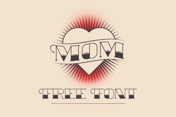 MOM Free Tattoo Font