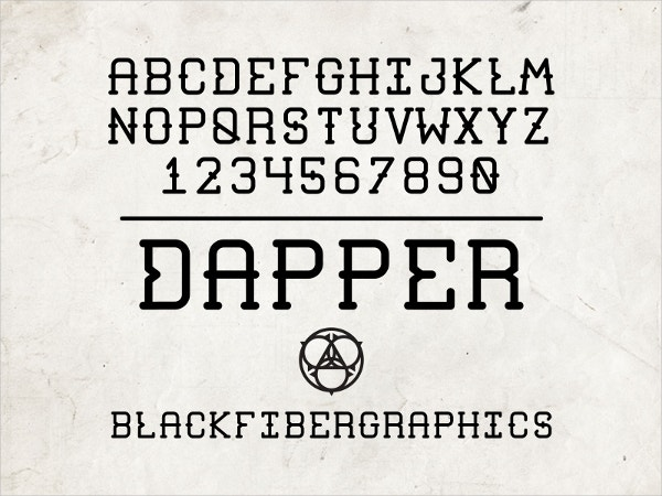 dapper tattoo font