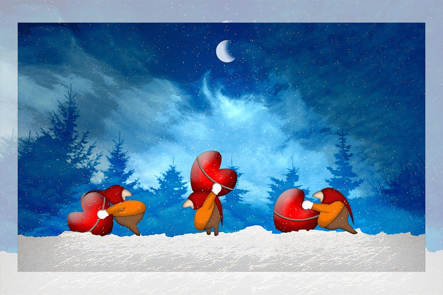 Cartoon Christmas Wallpaper