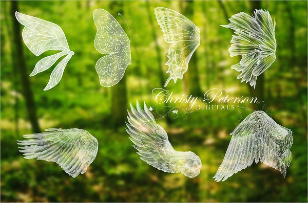 7 Fairy Wings Photoshop Brushes