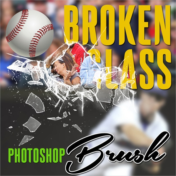 broken glass photoshop brush