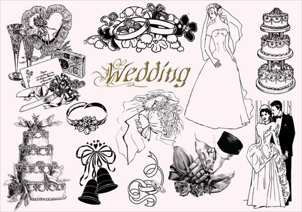 Vintage Wedding Photoshop Brushes