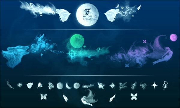 TC Magic Spell Moon Photoshop Brushes
