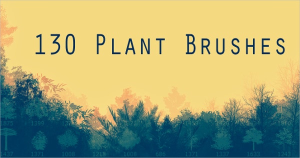 130 plant photoshop brushes