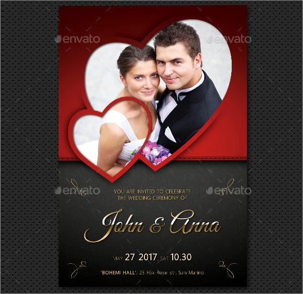 Cute Photo Wedding Invitation