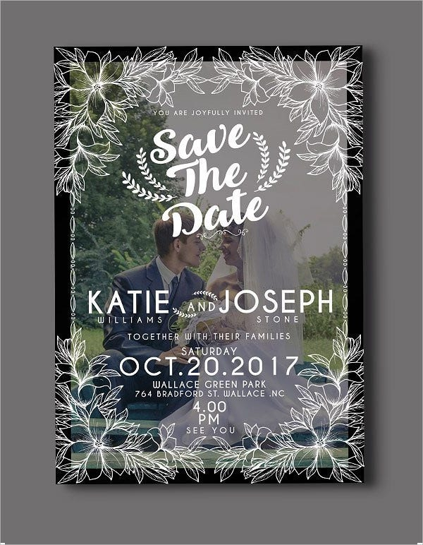 Organised Photo Wedding Invitations
