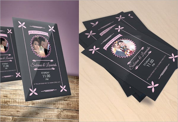 Wedding Invitation along with Photo