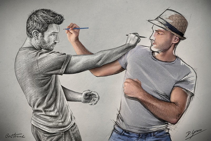 creative pencil artwork