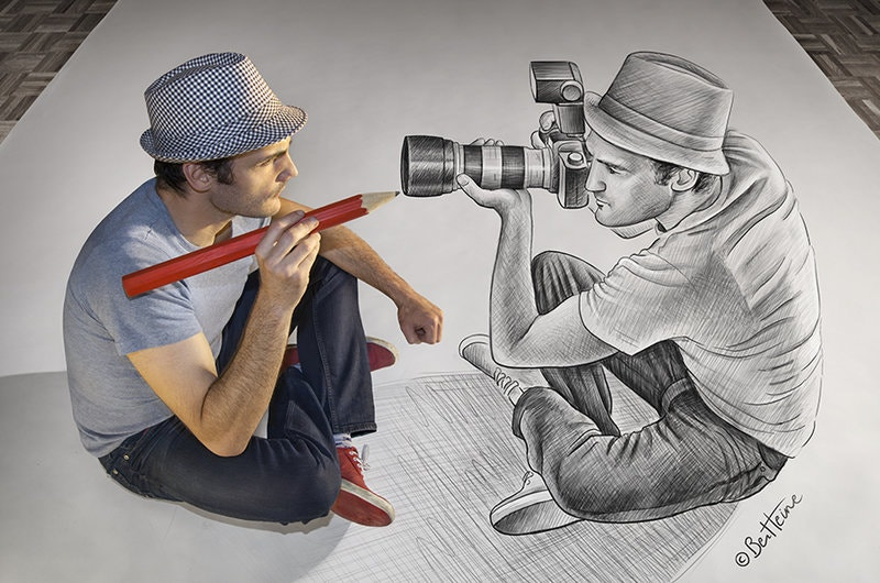 pencil camera 3d artwork