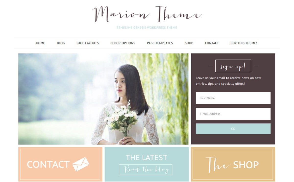 ecommerce photography feminine wordpress theme