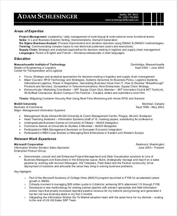 sle cv of telecom business analyst