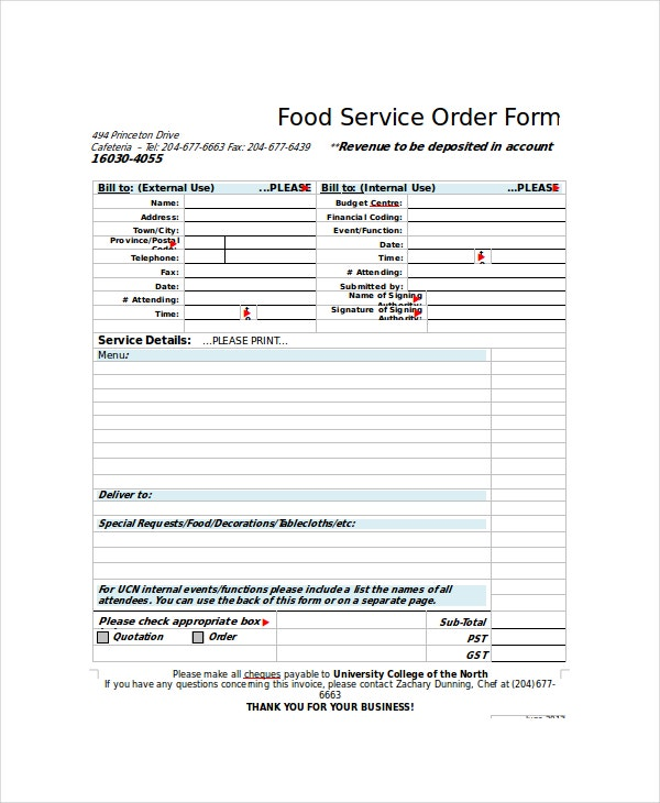 Order Form Template - 11+ Free Word, Pdf Documents Download | Free