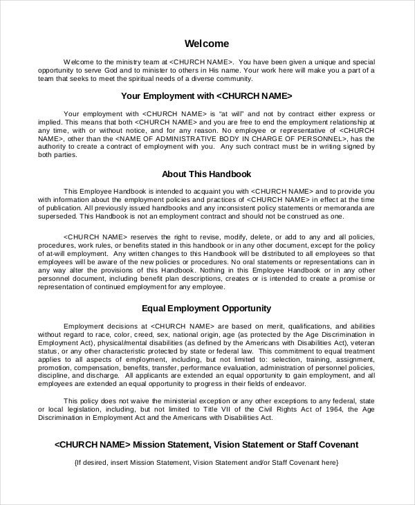 Employee Policy Template Kleobeachfixco - Texas employee handbook template