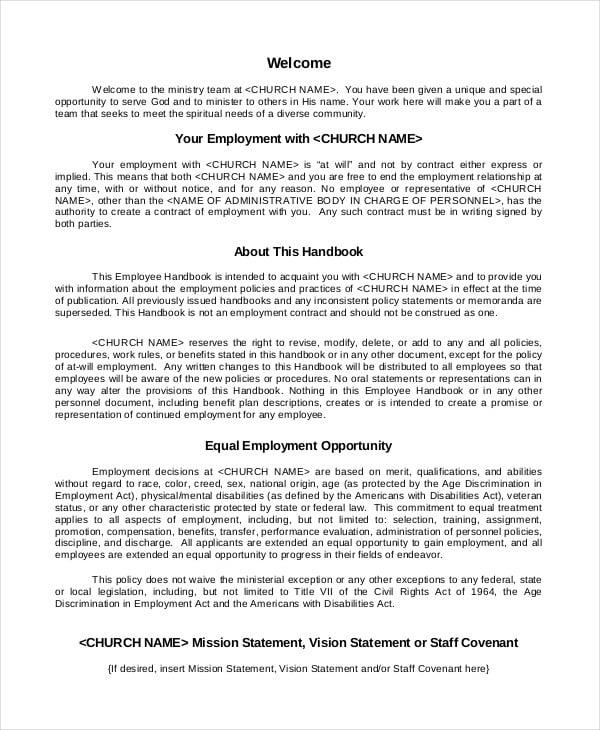 Employee Handbook Template Trattorialeondoro - Retail employee handbook template