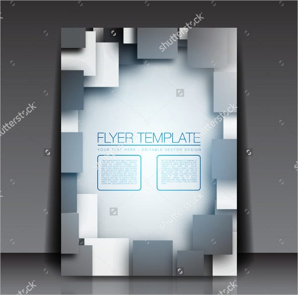 3D Square Business Flyer Template