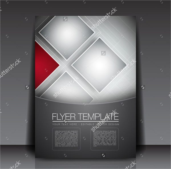 Business Squares Background Flyer Template