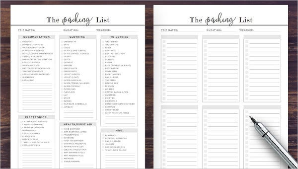 Vacation Checklist Template 14 Free Pdf Documents Downlaod Free Premium Templates