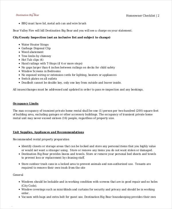 Vacation Checklist Template - 12+ Free PDF Documents ...