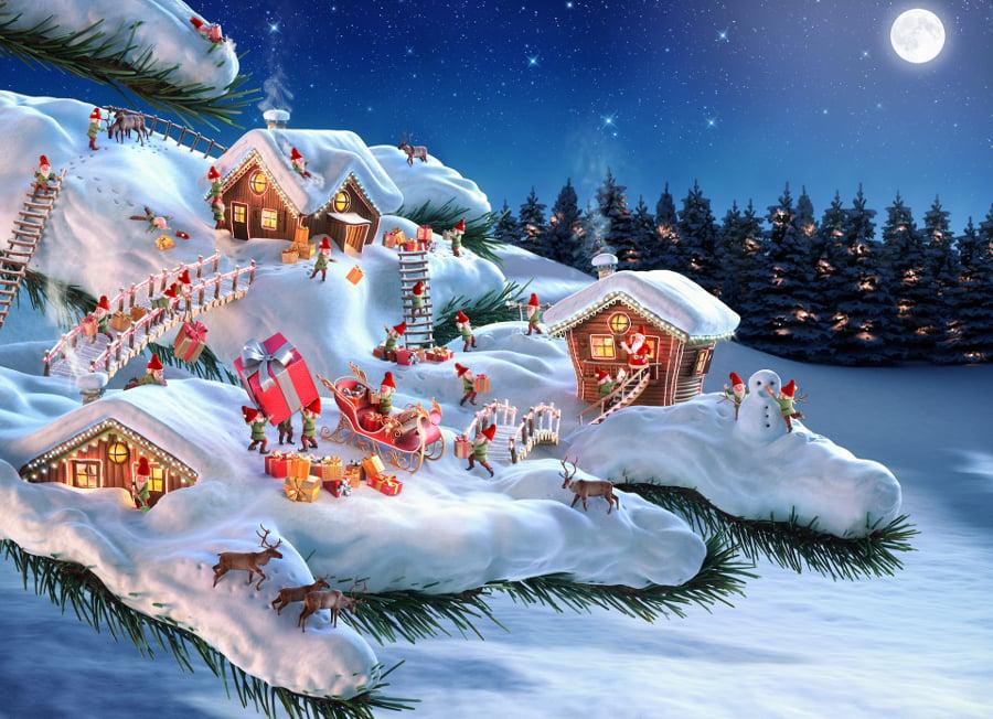 christmas snowman santa