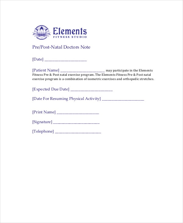 Doctors Note Template   Free Word Pdf Psd Documents Download
