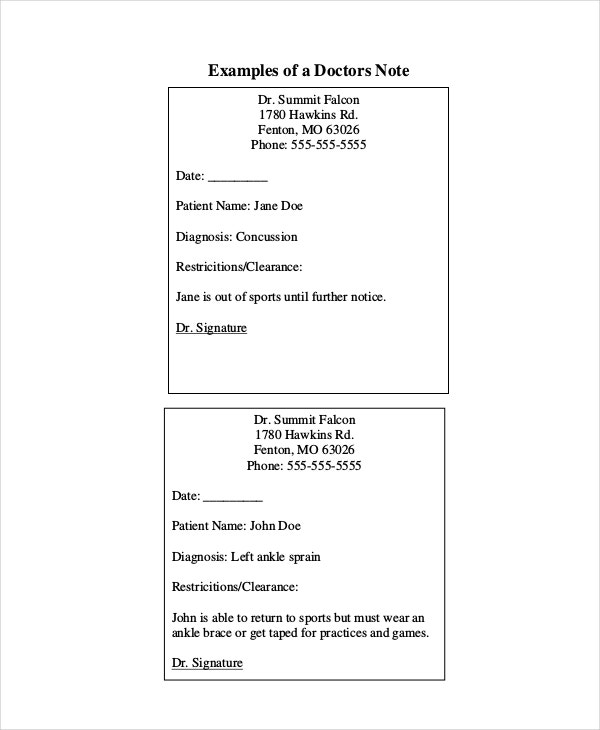 Doctors Note Template - 11+ Free Word, PDF, PSD Documents Download ...
