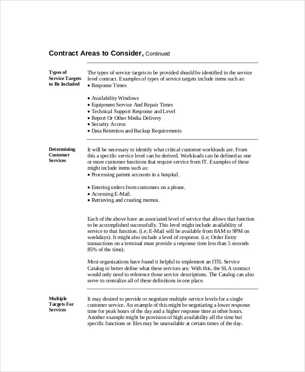 Service Level Agreement 18 Free Pdf Word Psd Documents Download