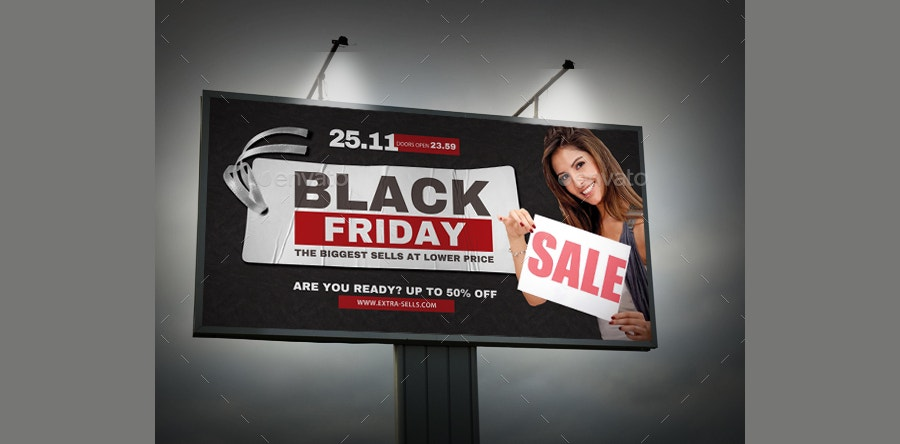 outdoor black friday banner template