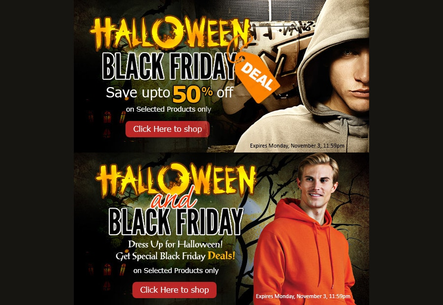 halloween black friday banner