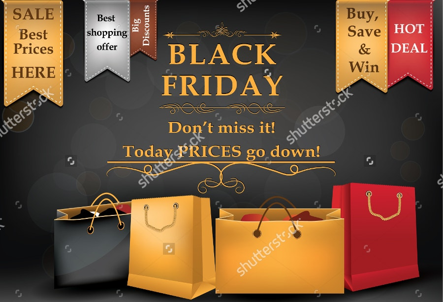 black friday sale advertising banner