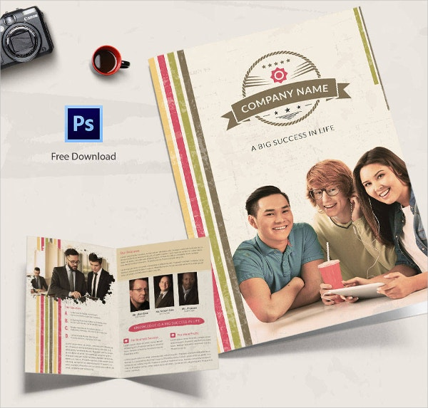 Retro Multipurpose Bi-folding Brochure