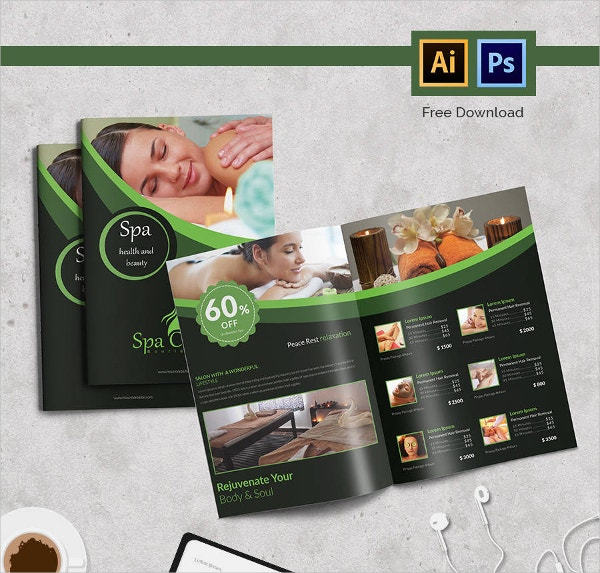 Spa Bi-fold Brochure Template