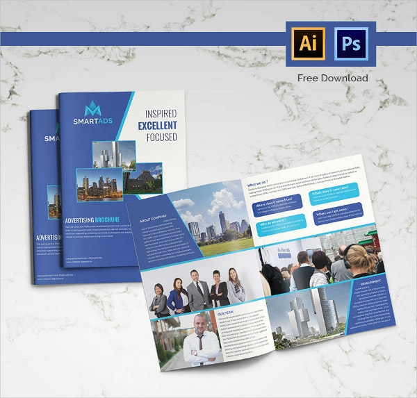 Bi-fold Advertising Brochure