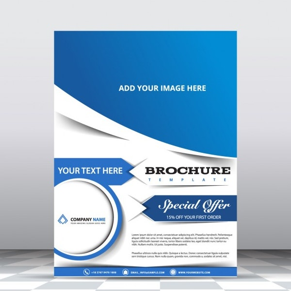 modern blue free brochure template2