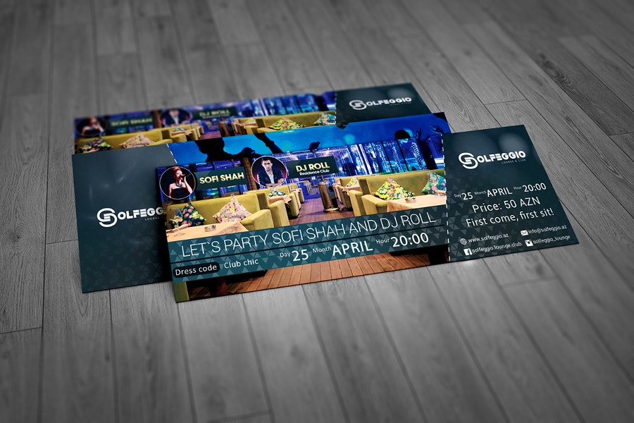 Free Psd Event Ticket Template Design - Event ticket template photoshop
