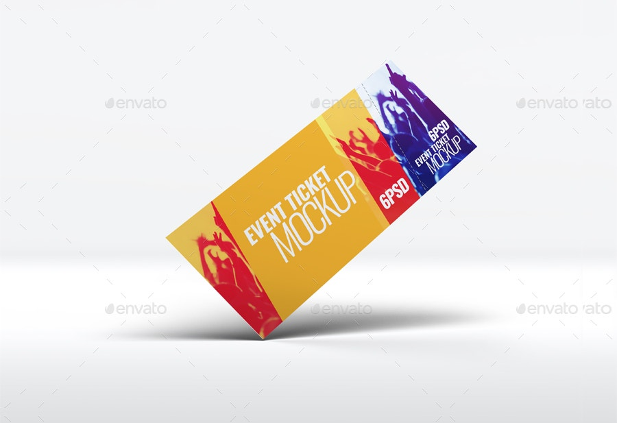Entrance Event Tickets Mock-Up