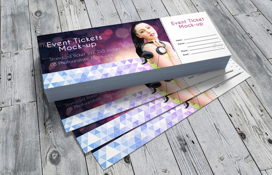 21  event ticket mockups
