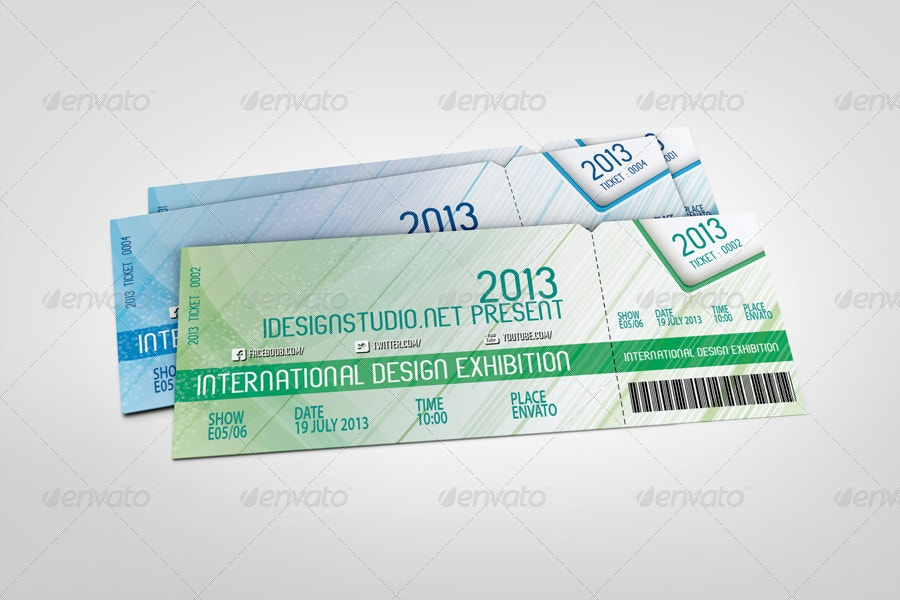 Concert Event Tickets Mock-Up
