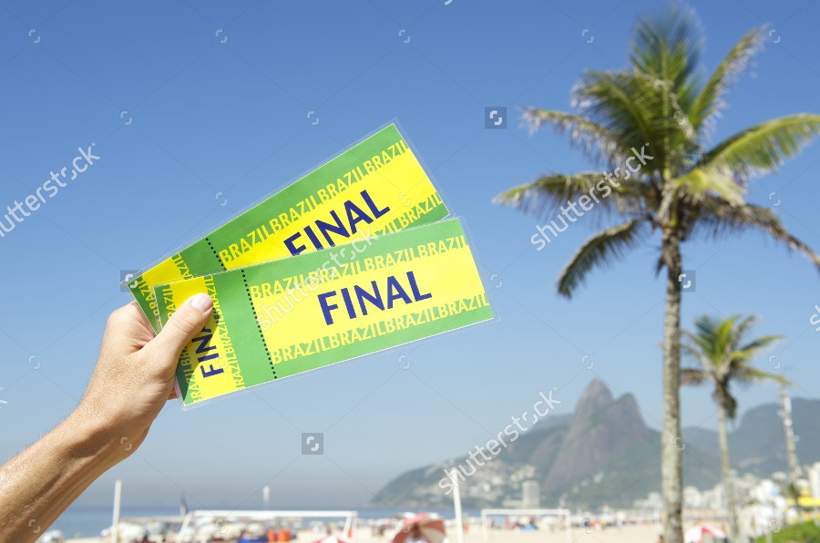 Brazil Final Tickets Holding in Hand