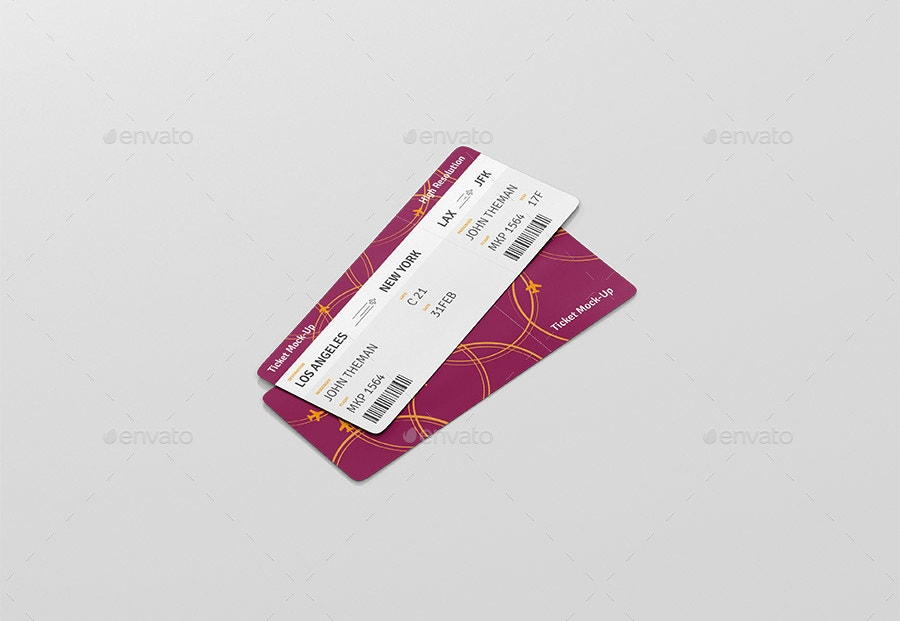Boarding Event Ticket Mockup