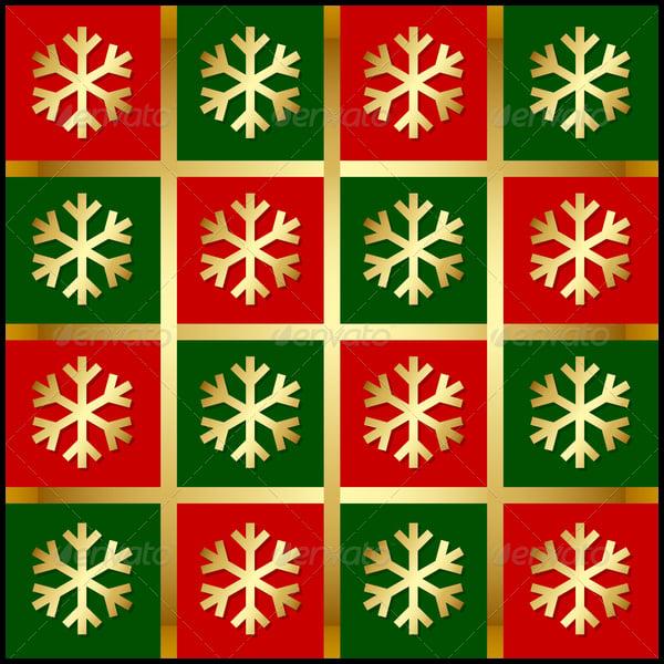 Golden Snowflake Pattern