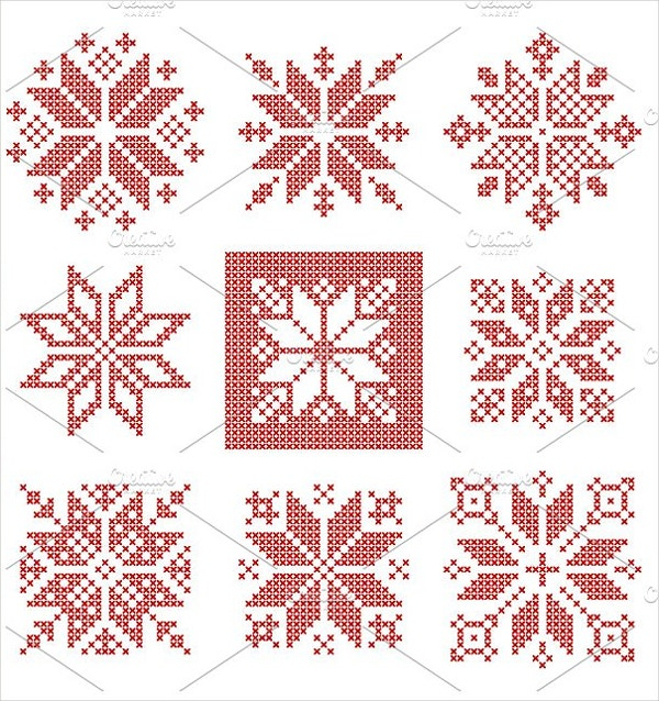 Small Snowflake Embroidery Design
