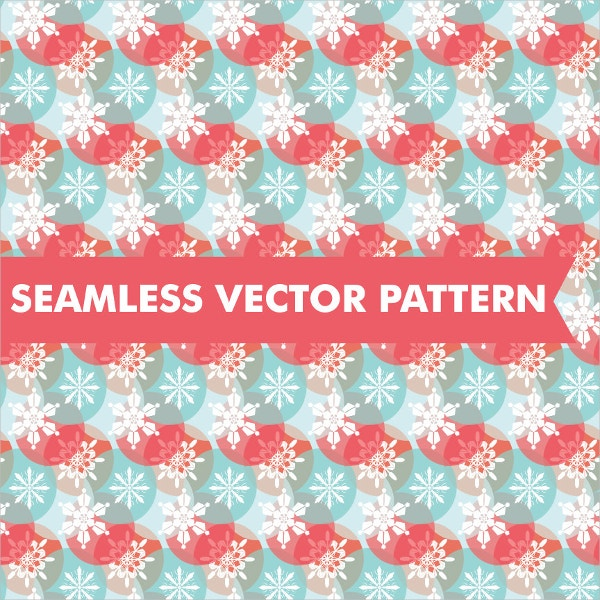 Seamless Vector Snowflakes Pattern