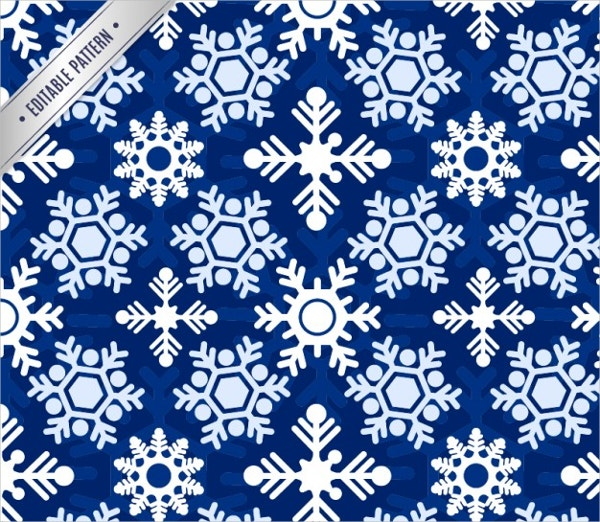 snowflakes pattern free vector