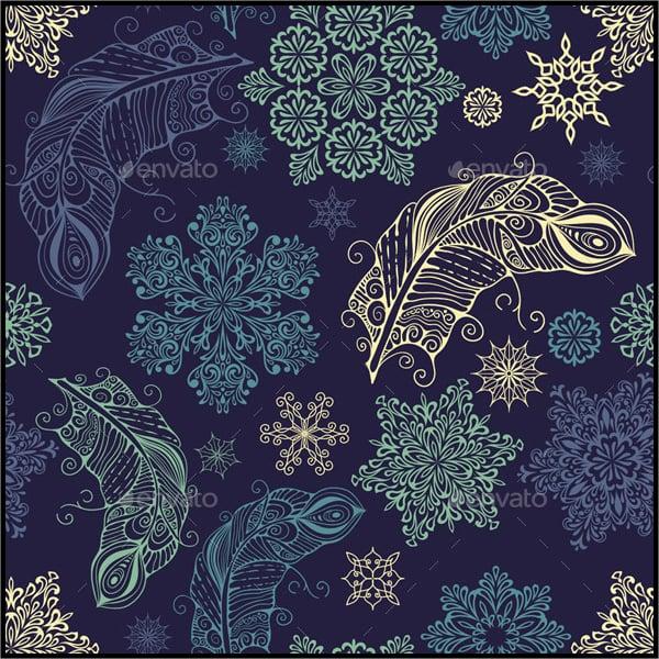 Feathers Snowflake Pattern