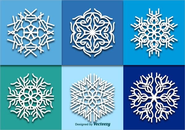White snowflakes Pattern