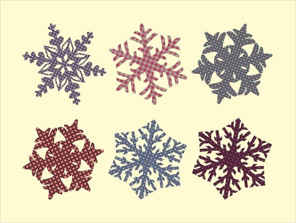 Fabric Snowflakes Pattern