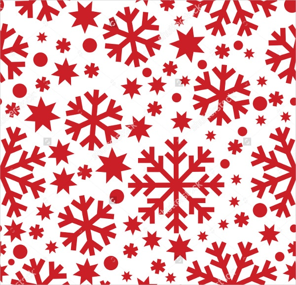 Seamless Winter Snowflakes Pattern