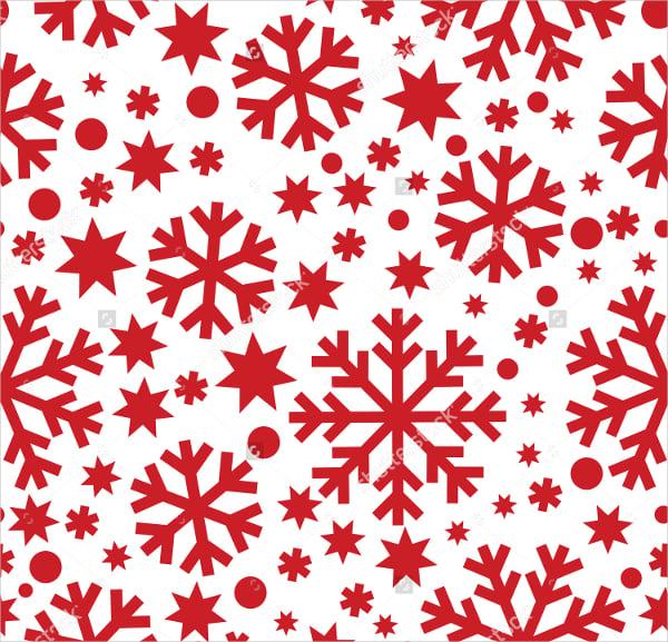 Seamless Winter Snowflakes Pattern