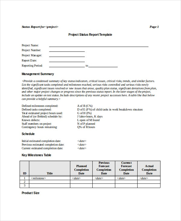 printable-project-status-report-template