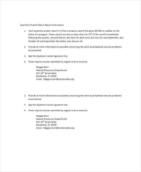 project status report template 17 free word pdf documents
